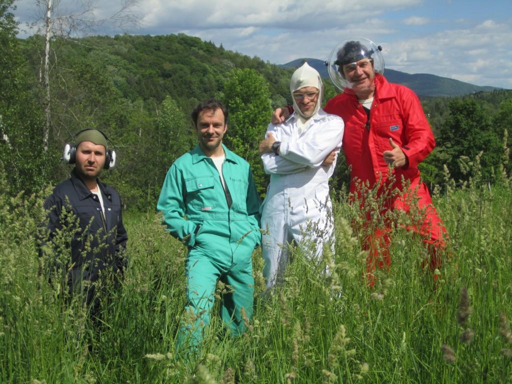 L'équipe initiale : de g. à d. : Julien Mellano, Francis Monty, Olivier Ducas, Denis Athimon © Julie Vallée-Léger