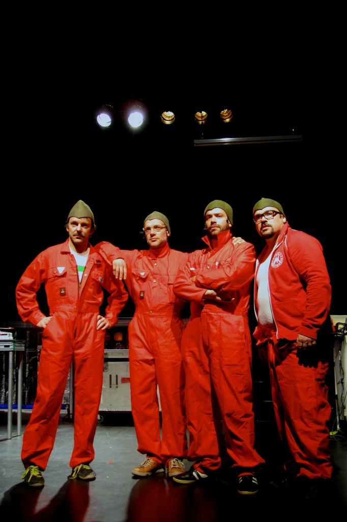 L'équipe réformée : de g. à d. : Francis Monty. Olivier Ducas, Étienne Blanchette, Mathieu Gosselin © Julie Vallée-Léger